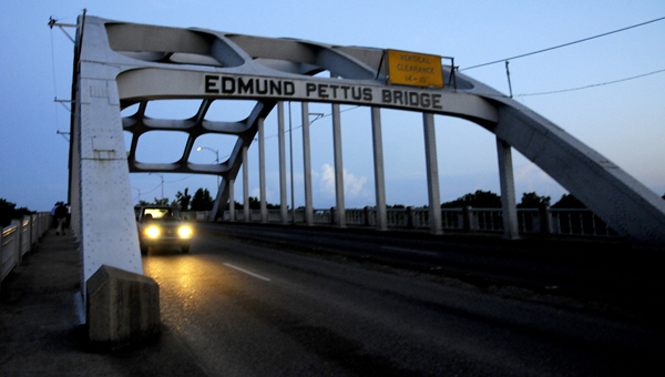 The Department of the Interior and the National Parks Service announced Monday the Edmund Pettus Bridge in Selma had been added to the list of national historic landmarks. -- File photo