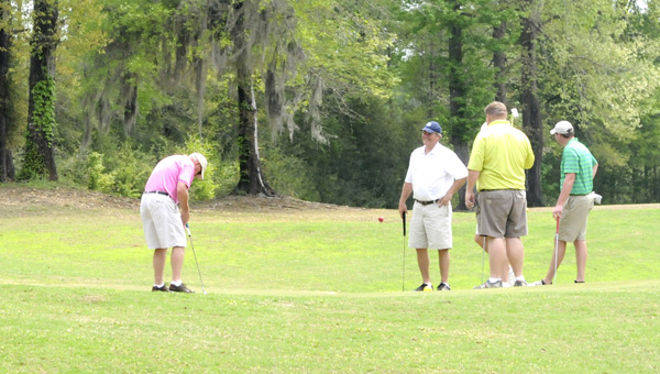 Team game: More than 20 teams participated in the Selma-Dallas County Chamber of Commerce Golf  Tournament Wednesday at Valley Grande Golf Course. --Ashley Johsnon