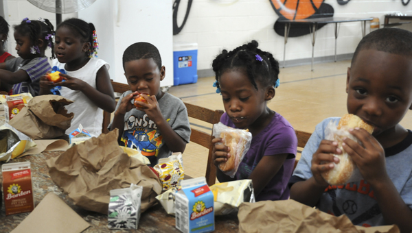 The Summer Feeding program feeds hundred of children in Dallas County each day. Also, the program teaches fitness by encouraging children to exercise and stay active. -- Ashley Johnson