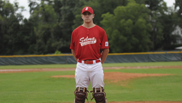 Selma's Hunter Veach will play catcher this week for the Selma All-Stars in the Dixie Major State Baseball Tournament at Bloch Park. The tournament starts on Thursday and runs through Monday.--Roderick Mitchell