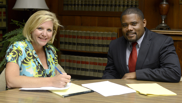 Jana Russell Garner, an attorney with Reeves & Stewart, P.C., and state Rep. Darrio Melton, are among the organizers of the 2013 Alabama Pro Bono Week, which will be centered in Selma. -- Jay Sowers