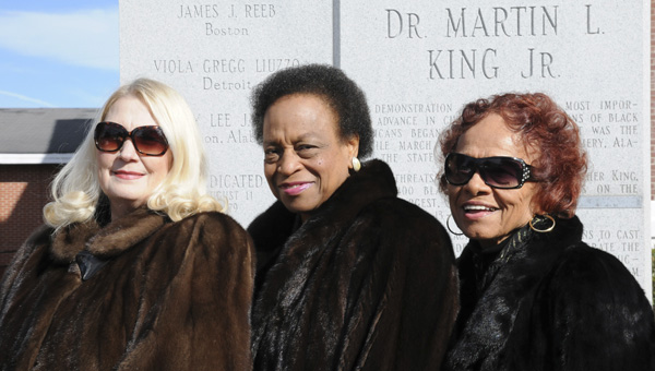 Members of the Selma Chapter of The Links, Incorporated Chairperson Betty Miller, President Pinkie Platt and Cochair Dorothy Gardner stand outside of the Brown Chapel AME Wednesday afternoon. The organization will be hosting their 21st Annual Unity Breakfast Jan. 20 at the Selma Convention Center at 7:30 a.m. --Sarah Robinson