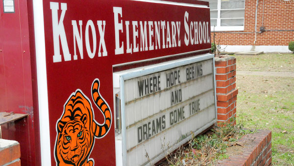 Room for improvement: A visit to Knox Elementary School, where Selma City School board member Udo Ufomadu witnessed several leaks in the structure's roof, has convinced several school board members that repairs are needed.
