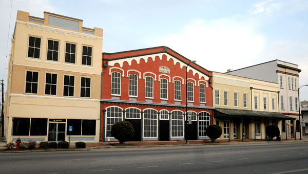 According to records, 2 Broad Street, the former Cahaba Furniture location (red) has an assessed tax value of $57,600. (Josh Bergeron   Times-Journal)