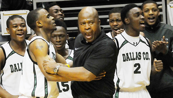 Head coach Willie Moore and Dallas County defeated Dora Saturday to win the Central Regional championship and advance to the school's third final four. The Hornets will take on defending Class 4A champion Madison County Wednesday at 7:30 p.m. in the state semifinals. (Daniel Evans | Times-Journal)