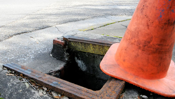 Sewer drain covers are begging to pop up missing across Selma, with the Old Town neighborhood being hit hardest. Ward 3 Councilman Greg Bjelke said he suspects the thieves are selling the scrap metal for money. (Josh Bergeron | Times-Journal)