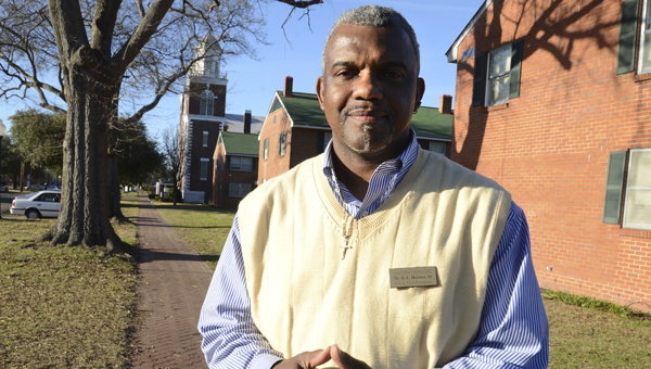 Bruce Lorenzo Holmes Sr. is exploring ways to have a historic marker placed at GWC Homes. -- Jay Sowers