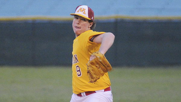 Morgan Academy pitcher Alex Davis gave up two runs in seven innings in Monday night's game. Davis settled down after giving up two quick runs, shutting out Kingwood Christian the rest of the way.--Daniel Evans