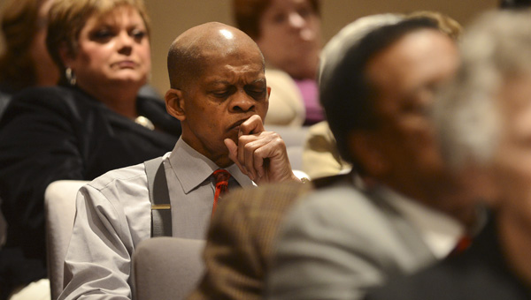 Still Employed?: Selma City School Superintendent of Education Gerald Shirley is pictured at a State Board of Education meeting in early February where the board voted to takeover the Selma City School System.  (Jay Sowers | Times-Journal)