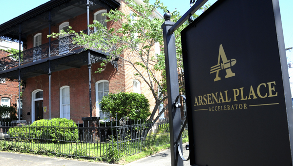 Arsenal Place Accelerator is located at the corner of Selma Avenue and Church Street. In just two months, business accelerator is now home to three businesses, and growing. -- Josh Bergeron