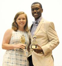 Class XVII class members Mary Logan Kelley and Nivory Gordon III were named the class' Harriet Bates Award recipients. -- Christopher Edmunds