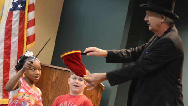 A crowd of over 150 turned out to watch magician Gary Ledbetter perform at the Selma-Dallas County Public Library on Monday.  (Jay Sowers   Times-Journal)