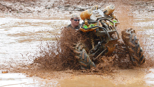 Valley Grande resident Darren McGilberry hosted another Big Daddy's Offroad ATV and truck event in the mud on his property. (Jay Sowers | Times-Journal)