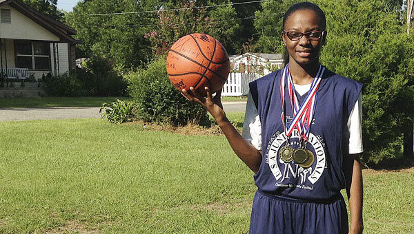 Selma High School's Areyana Williams participated in the 2014 USA Junior  Nationals International Sports Festival in Columbus, Ohio July 8-12.  Williams was her team's MVP after scoring 15 points and adding six rebounds per game.--Submitted Photo