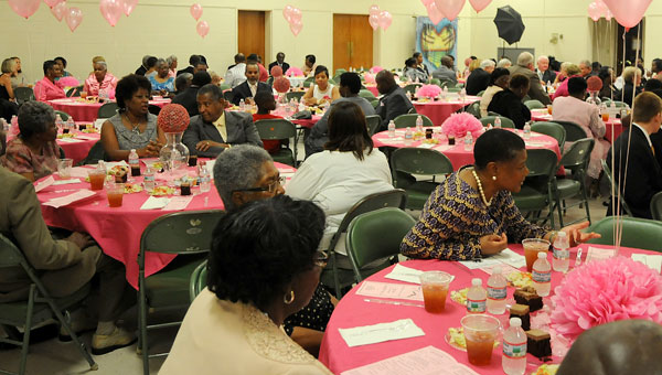 A large crowd was on hand for the Gala in Pink ball held Saturday in the Selma Convention Center. (Sarah Robinson | Times-Journal)