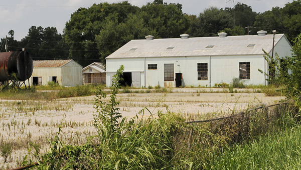 A piece of county-owned property, located in at the intersection of Plant Street and Hardive Avenue, used to be used as a county shop, where county vehicles were serviced and stored. But, after years of vandalism and other problems, the county moved its operations, leaving the property nearly abandoned. (Josh Bergeron | Times-Journal)