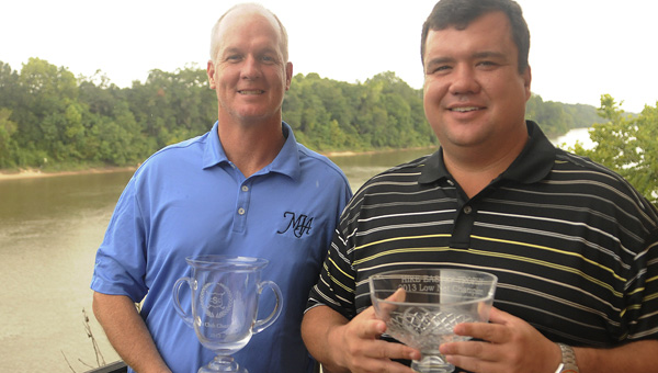 Paul Garner, left, won the Selma Club Championship last year for his sixth overall title. Garner appears to be the favorite going into next week's tournament, where Kory Taylor, who finished with the low net score, and a loaded field of local golfers will try to stop him from winning his seventh championship. (File Photo | Times-Journal)