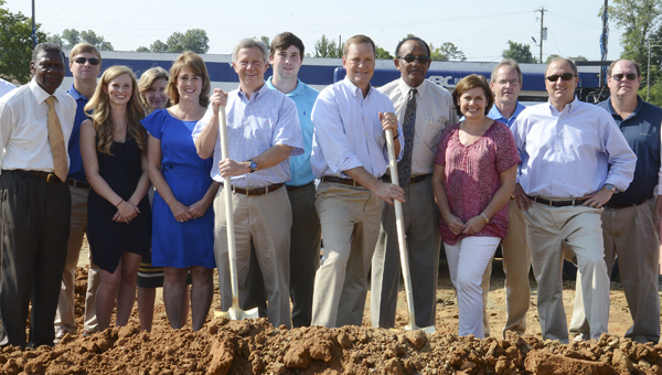 Work began this week to clear ground for the new location of Moore-Stewart Honda, which will sit at the corner of Highland Avenue and Marie Foster Street. (File Photo)