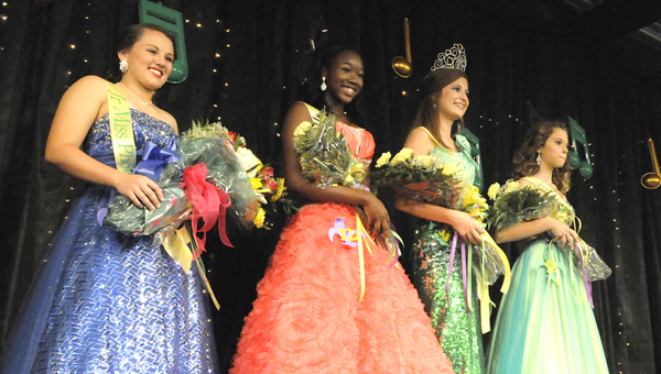 The winners and finalists in the 2013 Junior Miss Central Alabama Fair pageant pose for photos last year.  The application deadline for this year's pageants is Aug. 31.
