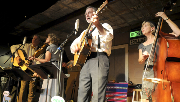 Singing Bluegrass:  The Dill Pickers, a vocal string band and theaterical group based out of Birmingham, serenaded those at the Alabama Tale Tellin' Festival during last year's festival.  The schedule for the upcoming Kathryn Tucker Windham Alabama Tale Tellin' Festival was recently released.
