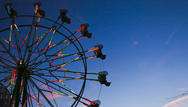 The ferris wheel at the Central Alabama Fair has been one of the main attractions. --Alaina Denean