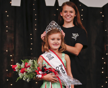 Emily Boswell was named the 2014 Petite Miss Central Alabama Fair queen Monday night.--Alaina Denean