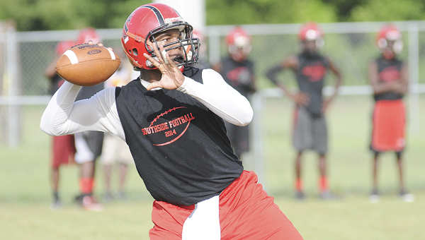 Southside quarterback Khamari Gibbs has missed the first two games of the season with a hamstring injury. Gibbs will not start this week when the Panthers play their home opener against Satsuma but Panthers' head coach Daniel Flowers said he will play. --Daniel Evans