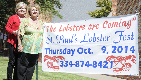 Barbara Leet and Nancy Travis, Co-chairmen for the annual St. Paul's Lobsterfest, above, announced the deadline to purchase tickets for the annual Lobsterfest is Monday, Oct. 6. Call 874-8421 for more information or to purchase tickets. -- Daniel Evans