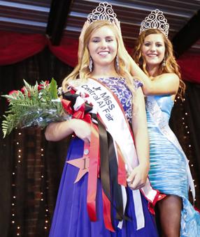 2013 Junior Miss Central Alabama Fair,  Abreanna Kuhn, crowns the new 2014 Junior Miss Central Alabama Fair,  JoAnna Alisa Adkison.--Alaina Denean