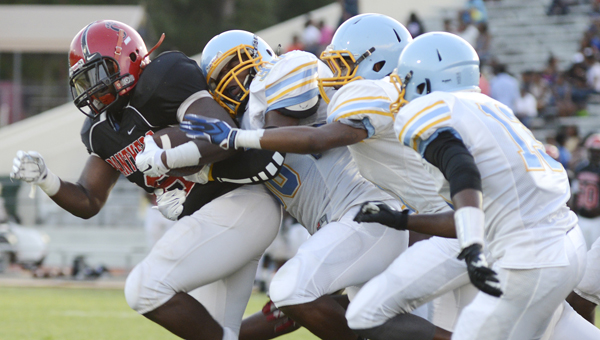 Selma's defense was shredded last week against McAdory, but the Saints will look to get back on track this week when they face county rival Keith.  After winning its first three games of the year, Selma has lost its last two games to Hillcrest-Tuscaloosa and McAdory. Keith is winless this season. -- File Photo