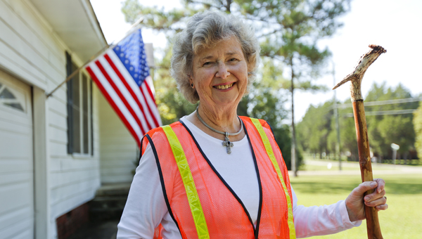 Eralou Divelbiss, a resident of Selma, has picked up over 10,998 gallons of trash since the spring of 2012, as part of a campaign to clean up the city. -- Alaina Denean
