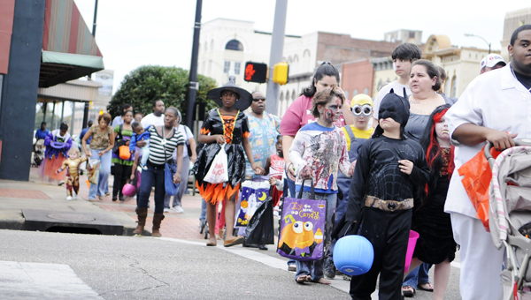 The annual Monster March will begin Friday at 3:45 p.m. in front of the Selma-Dallas County Public Library.