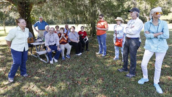 "A group tours Old Cahawba Archeological Park Saturday, for the ""hear the dead speak"" daylight walking tour. --Alaina Denean"