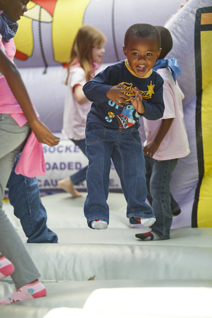 In addition to lunch, children also enjoyed games and inflatables Tuesday.