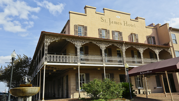 The April 1865 Society, Inc. has added a historical marker to the St. James Hotel in Selma.