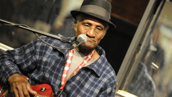 Famed blues musician and Uniontown native Gib Gibson performs at Thursday's Shuck 'n' Jive concert for Blackbelt Benefit Group and Grow Selma.
