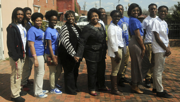 Alabama State Board of Education member Ella Bell is pictured with Selma City Councilwoman Bennie Ruth Crenshaw and Selma-Dallas County Youth Ambassadors at their annual high school unity breakfast on Monday.