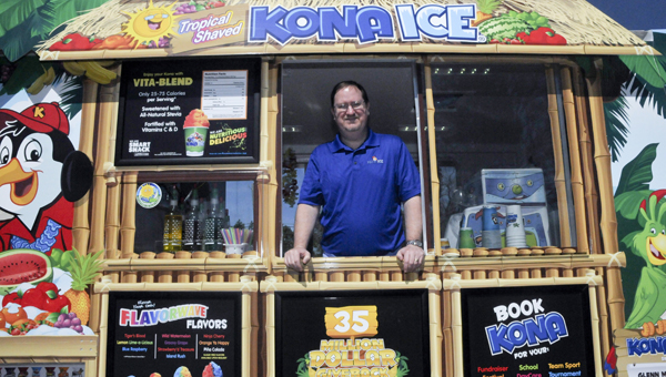 Glenn McPhillips plans to have his Kona Ice truck at community events in the coming weeks. It is also available for birthday parties and other occasions.