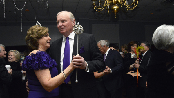 Gladys Elliott dances with her husband, Jimmy, after being crowned Pandora for 2016.