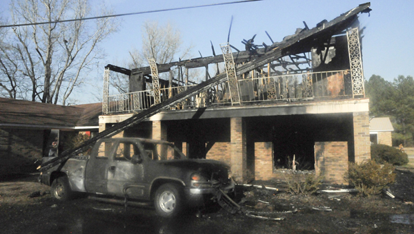 The home of Dallas County Commissioner Curtis Williams near the Beloit community burned Thursday afternoon in a house fire.