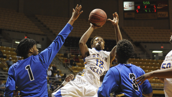 Keith's Justyn Pettway shoots a jump shot during Thursday's game against Jefferson Christian. --Daniel Evans