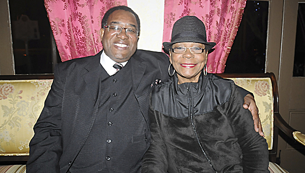 Curtis Williams sits with his wife Jerolene Williams at the St. James Hotel shortly after he found out he had won the election for Dallas County's District 3 commissioner. --Justin Fedich